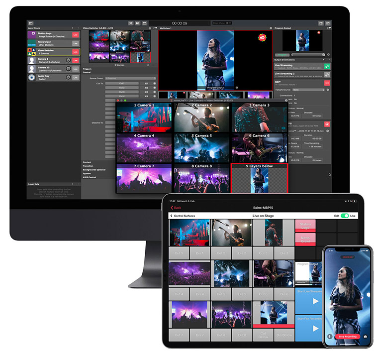 Professional Live Streaming for Mac®