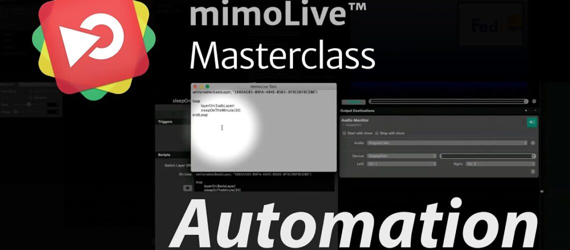 Automation in mimoLive